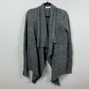 Abercrombie | Gray Open Front Waterfall Cardigan